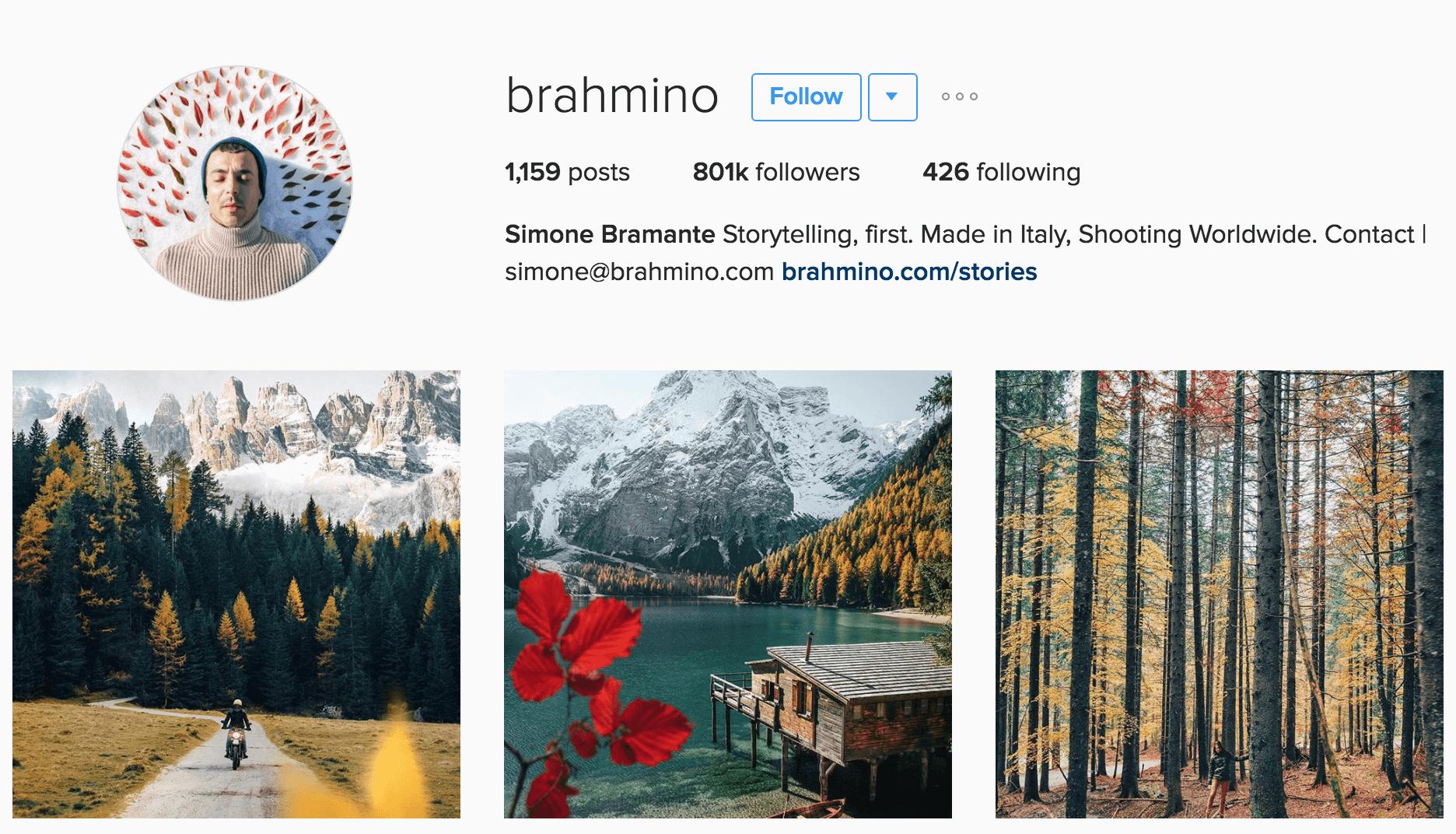 Simone Bramante - Instagram Photographer