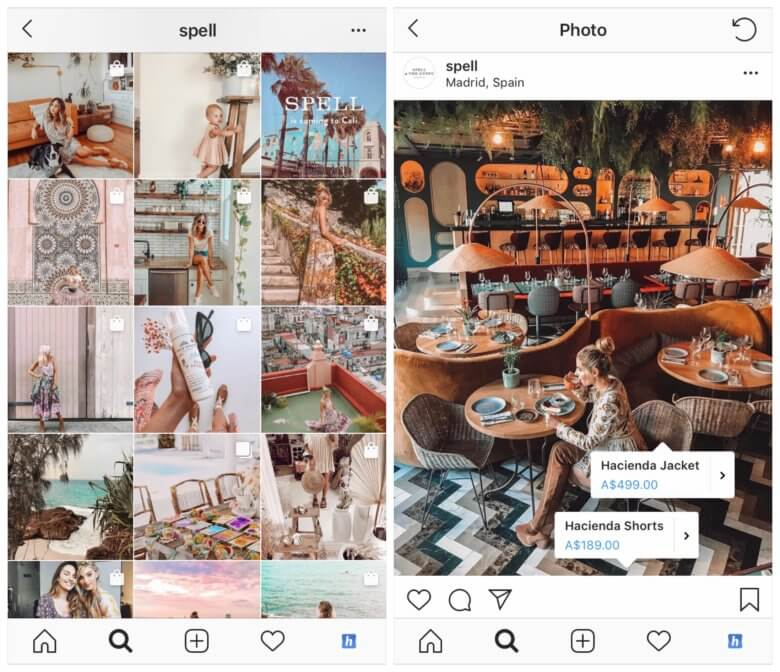 shopping tags instagram