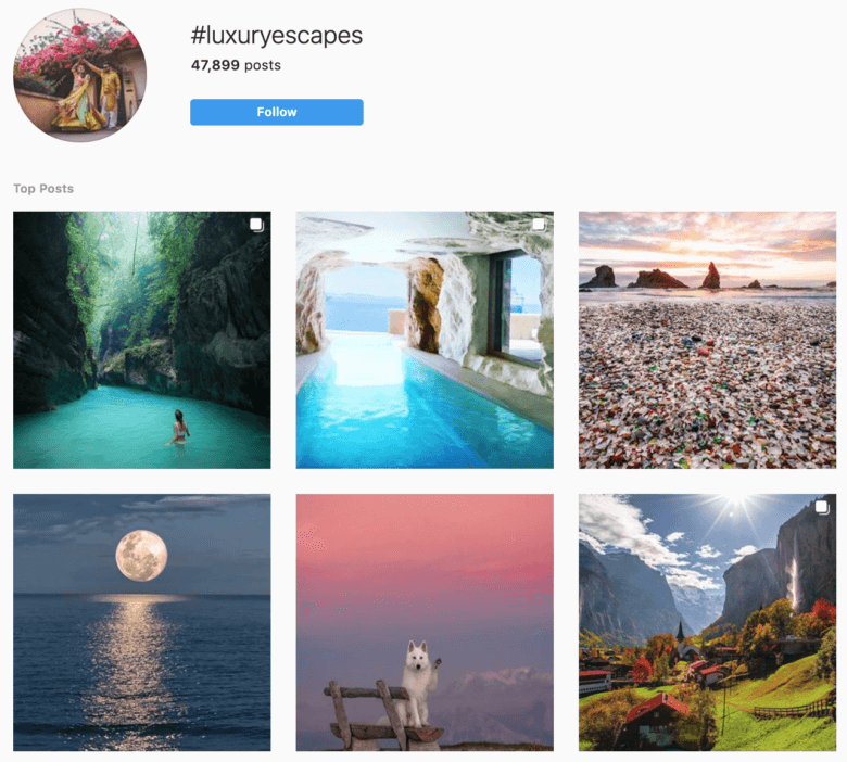 top travel hashtags