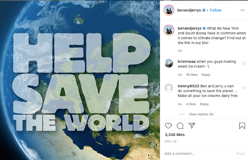Ben & Jerry's 'Save our World'